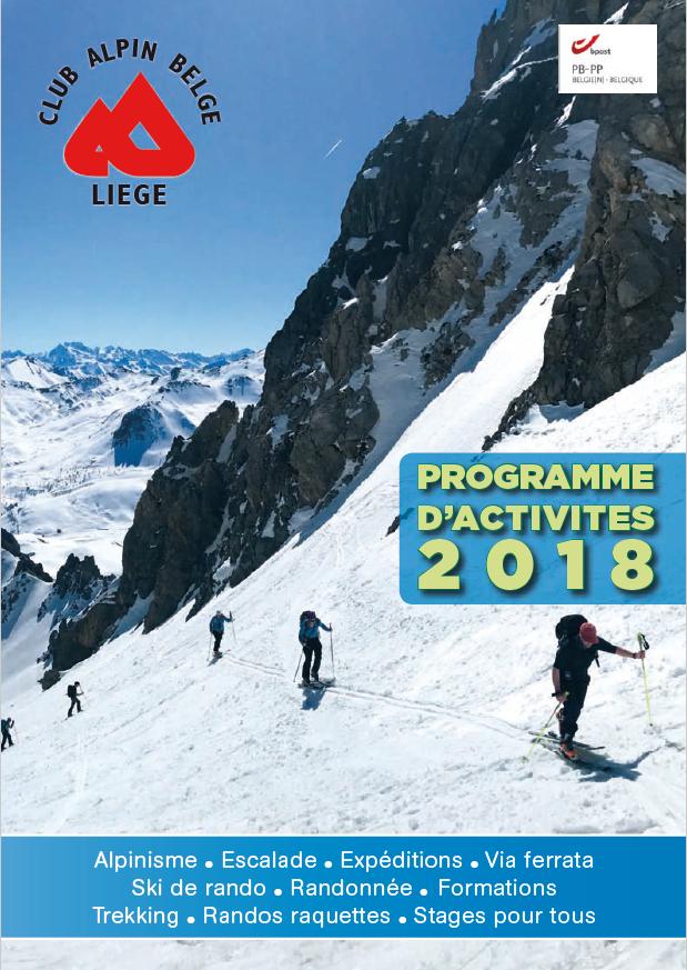 Calendrier d'activités 2018